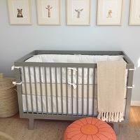 Amanda Teal Design - nurseries - modern nursery, gray and orange, gray and orange nursery, gray and orange nursery design, modern crib, gray...