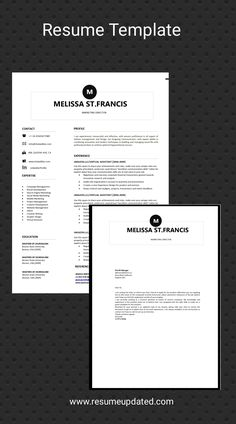 Modern Resume Template, Resume Template Free, Cover Letter For Resume, Cover Letter Template, Cv Words, One Page Resume, Best Resume, Resume Tips, Professional Resume