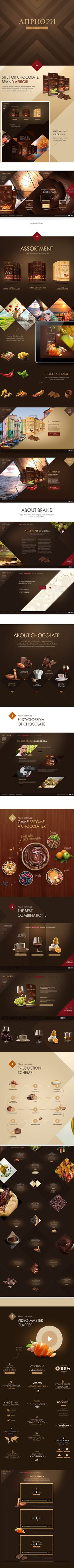 Apriori by Sasha Vinogradova, via Behance #chocolate