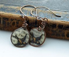 Wire frame with birds book text in resin by DragonflyDreamers, $22.00