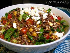 K Test Kitchen: Test: Quinoa, Chickpea, and Spinach Salad with Paprika Vinaigrette