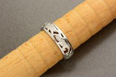 Vintage Sterling Silver Floral Cutwork Ring Size by VintageCravens