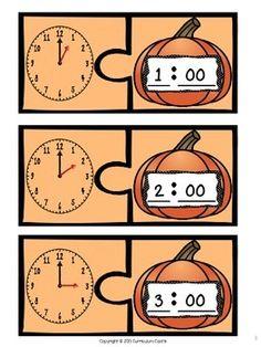 PUMPKIN TIME CENTER: TELLING TIME TO THE HOUR FREEBIE! - TeachersPayTeachers.com