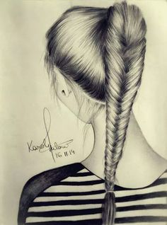 Pencil Drawings Of Nature, Realistic Drawings, Art Drawings Sketches, Easy Drawings, Live Wallpaper Iphone 7, Dont Touch My Phone Wallpapers, Hair Sketch, How To Draw Hair, Art Sketchbook