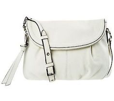 Aimee Kestenberg Leather Halley Flap Front Crossbody Bag — QVC.com
