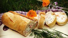 gefülltes Lachs-Frischkäse-Baguette
