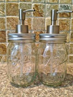 2 Mason Jar Soap Lotion Dispensers