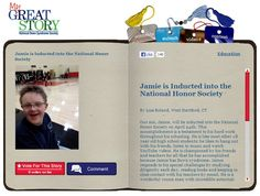 Check out the April 2013 My Great Story of the Month Contest winner Jamie is Inducted into the National Honor Society, by Lisa Roland, West Hartford, CT. Share your story at ndss.org/stories!