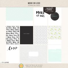 more or less journal cards by paislee press