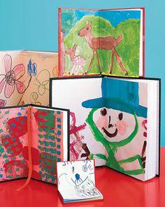 journals embellished with kids artwork