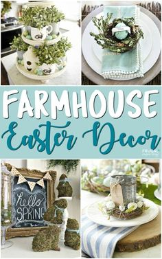Inspiring Farmhouse Easter Decor on Frugal Coupon Living. Creative Spring Fixer Upper Ideas including rustic metals, moss, bunnies, eggs and distressed woods. #farmhouse #easter #easterdecor #homedecor #farmhouesdecor #spring #springdecor #hometour #farmhousestyle #fixerupper #joannagaines #springhometour