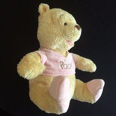 Plush Winnie Pooh Bear Pink Pastel Baby Infant Nursery 12 Inch Stuffed Animal  #Unbranded