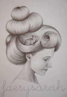 Mouse Girl sketch #faerysarah #sketch #mouse #drawing #hair
