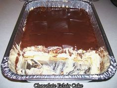 Chocolate Eclair Cake - Ingredients : 2 (3.4 oz) packages Vanilla Instant Pudding mix, dry 3½ cups whole milk 12 oz. cool whip 2 (14.4) oz packages graham crackers – FROSTING – 3 Tbsp. butter 3 Tbsp. milk 3 Tbsp. cocoa 1 cup powdered sugar directions : Blend milk and …