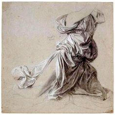 "Jean-Auguste-Dominique Ingres        Drapery, Study for ""The Vow of Louis XIII"" -       Palais des Beaux-Arts, Lille, France"