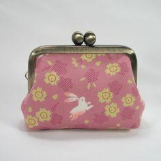 Small Coin Frame Pouch - Sakura Usagi Bunny