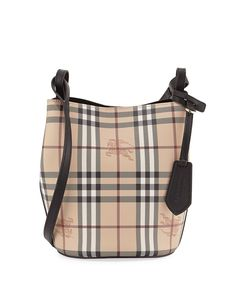 8885f5d3cfc3 Lorne Haymarket Small Tote Bag Black Check. Burberry HandbagsBurberry ...