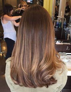 Reverse Bronde Ombre - Reverse Ombre Hair with Perfect Fades Into Browns and Blacks - The Trending Hairstyle Medium Long Hair, Long Layered Hair, Medium Hair Cuts, Medium Hair Styles, Curly Hair Styles, Haircut Medium, Haircuts For Long Hair Straight, Long Face Hairstyles, Long Hair Cuts