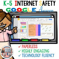 Internet Safety Digital (paperless) Interactive Notebook for grades K-5. 40+ activities to use in Google Slides or OneDrive. Tablet-friendly, too! Teach your students internet safety and digital citizenship with engaging and meaningful technology activities. They will be begging for more!