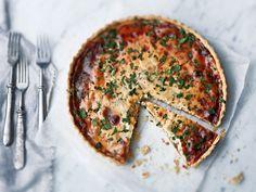 Quiche Lorraine maitojauheella Quiche Lorraine, Salmon Burgers, Ethnic Recipes, Food, Essen, Meals, Yemek, Eten