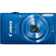 $89.00 Canon PowerShot ELPH 115 16MP Digital Camera (Blue). Just Point & Shoot