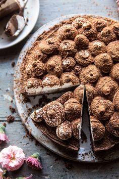 Dark Chocolate Chiffon Pie | halfbakedhavrest.com