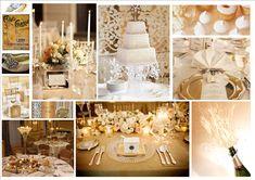 La boda perfecta combinando blanco con champagne. #Ebodas #Boda #ColorTema #Evento #Decoracion