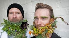 'Baltimore Beards' by floral design studio Local Color Flowers -- Greg Peeler and Matt Muirhead sport botanical 'Baltimore Beards.'