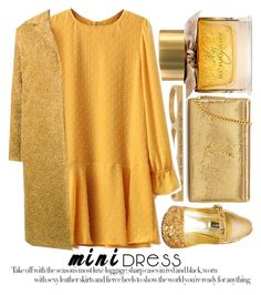 """""""HOLIDAY CHIC: MINI DRESSES #2"""" by noraaaaaaaaa ❤ liked on Polyvore featuring Burberry, Jaeci, Dolce&Gabbana, Yves Saint Laurent and Maryam Nassir Zadeh"""