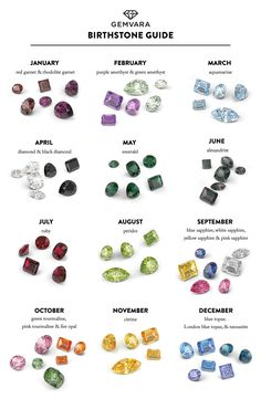 Gemvara's birthstone guide. Facts and lore behind your birthstone or a gemstone you love the most. Get inspired and customize!