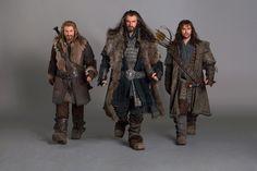 Dean O' Gorman (Fili), Richard Armitage (Thorin), and Aidan Turner (Kili)