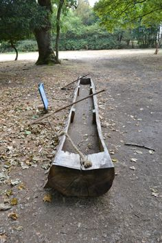 Boat made out of a log: Brownsea Island