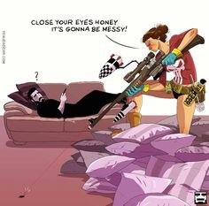 Husband-Wife Everyday Life Funny Illustrations - 6