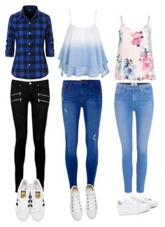 """""""Untitled #180"""" by sophiehemmings18 ❤ liked on Polyvore featuring Paige Denim, Dorothy Perkins, Converse, adidas Originals and adidas"""