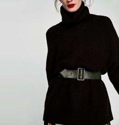 ZARA Women/'s High Neck Sweater Maroon,Black, Gray, Chocolate. US M, L//EUR M, L
