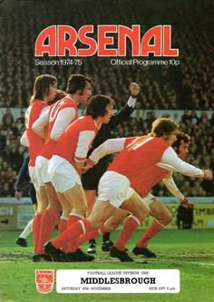 Arsenal Programme cover 1974-75 season