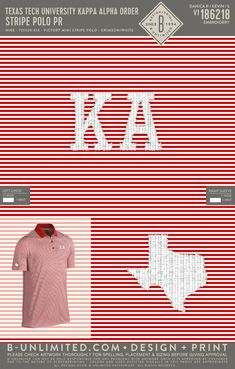 Texas Tech Kappa Alpha Order Polo | Fraternity Event | Greek Event #kappaalphaorder #kappaalpha #theorder #ka #tech Kappa Alpha Order, Henleys, Texas Tech, Flannels, Fraternity, Pride, Greek, Embroidery, Shit Happens
