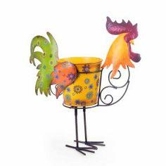 Decorative Metal Cockerel Garden Planter  Garden Ornaments & Accessories #gardening #nature www.gardens2you.co.uk Garden Planters, Planter Pots, Bright Colors, Colours, Garden Ornaments, Best Wordpress Themes, Rooster, Plants, Animals