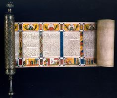 Purim 4. Esther Scroll, Austria, 19th Century. Courtesy of The Library of The Jewish Theological Seminary.