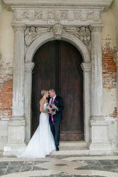 After-Wedding-Shooting in Venedig bei Regen
