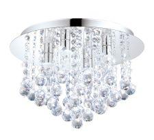 Plafon LAMPA sufitowa ALMONTE 94878 Eglo okrągła OPRAWA LED 2,5W z kryształkami IP44 crystal chrom przezroczysty
