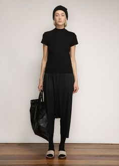 Issey Miyake PLEATS PLEASE Drop Crotch Pant (Black):