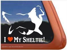 I Love My Sheltie Vinyl Window Decal