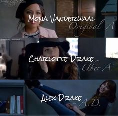 SPOILERS // honestly if I had to rate the A reveals in order of which I liked best Mona would 100% be first then Alex then Charlotte, I say Alex first mostly because Troians acting was so incredible and Charlotte last because I didn't really enjoy it and I wasn't really that surprised by it I was more confused than anything else.
