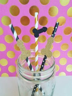 Bachelorette Party Penis Straws, set of 10- Glitter, Gold Foil, Hot Pink, Custom Options Available- Bachelorette Party, Hen Party Decor by EarlesFolly on Etsy https://www.etsy.com/listing/471934145/bachelorette-party-penis-straws-set-of