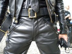 If you're going for the leather uniform look, never mix chrome and brass. For example, if you have brass studs and belt buckle on your jacket, do…