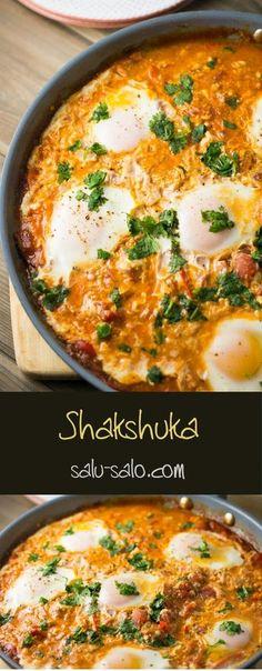 Shakshuka -- Egyptian recipe / FOOOOOOOOOOD I'm not a fan of Arabic food cuz I'm a British girl OBVIOUSLY great for breakfast and dinner