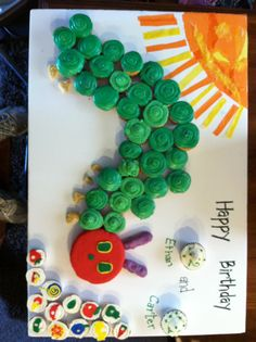 Very Hungry Caterpillar. Cute Display Board. Use tissue paper or construction paper for decoration?