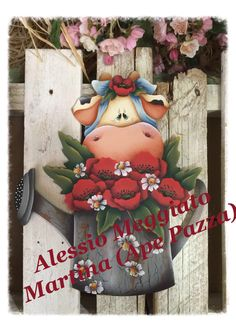 Risultati immagini per l'ape pazza Pintura Country, Christmas Wreaths, Christmas Ornaments, Country Paintings, Down On The Farm, Paper Towel Holder, Painted Books, Scroll Saw Patterns, Spring Has Sprung
