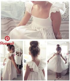 Wedding blue white dress flower girls 49 Ideas for 2019 Little Girl Fashion, Toddler Fashion, Kids Fashion, Little Girl Dresses, Girls Dresses, Little Girls White Dress, Beautiful White Dresses, Bridesmaid Dresses, Wedding Dresses